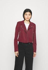 Guess - NEW KHLOE JACKET - Faux leather jacket - deep burgundy - 0