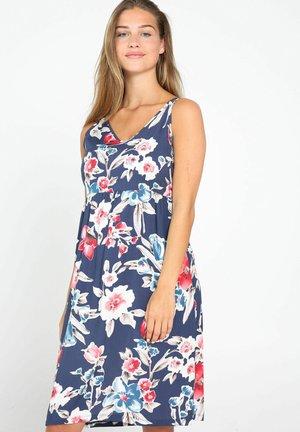 MIT BLUMEN-PRINT - Korte jurk - blue