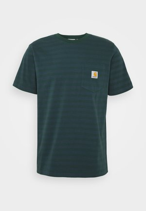 PARKER POCKET - Print T-shirt - green/admiral