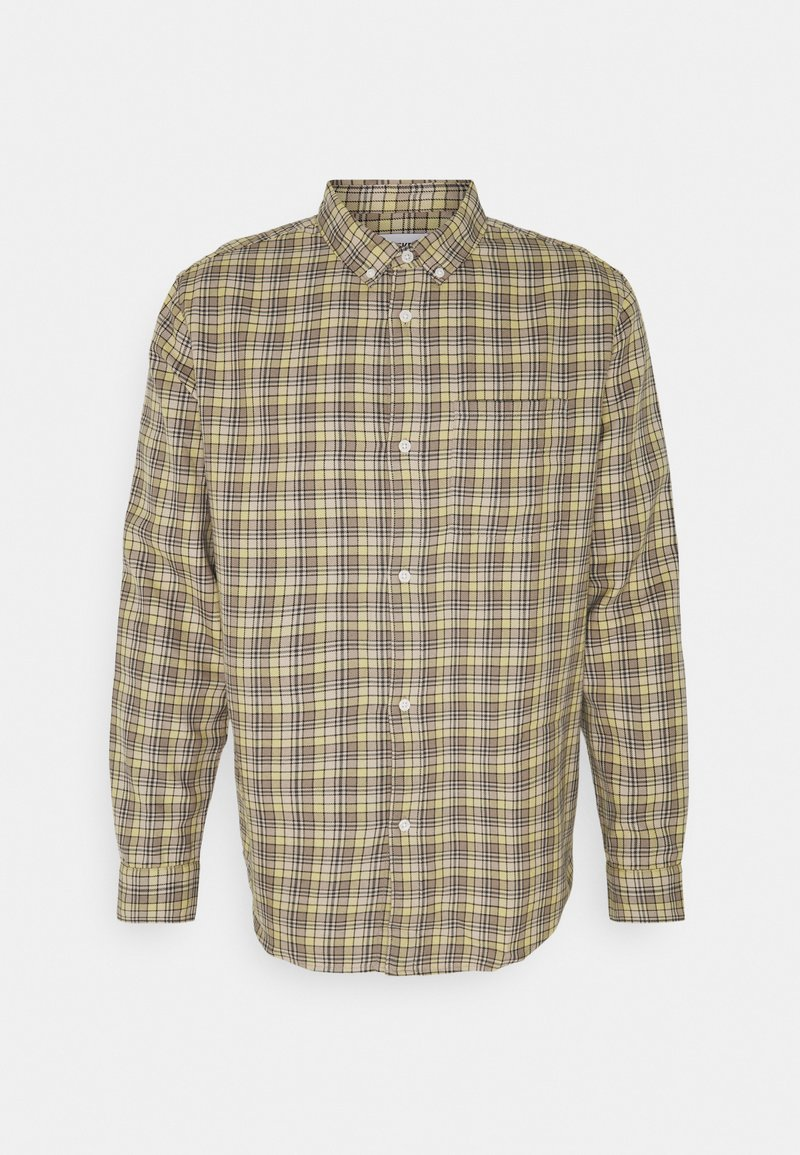 Weekday - MALCON CHECKED  - Shirt - beige