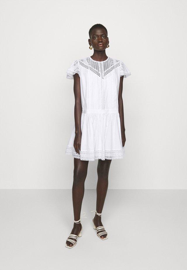ABITO CON SOTTOVESTE  - Sukienka letnia - bianco ottico