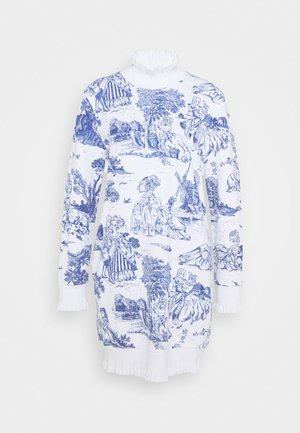 DRESS - Denní šaty - blue/white