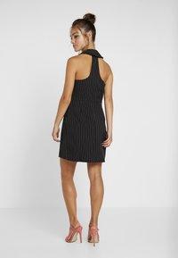 4th & Reckless Petite - MINI DRESS - Shirt dress - black - 2