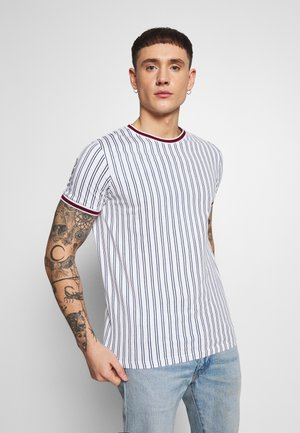 TEE - Print T-shirt - white denim