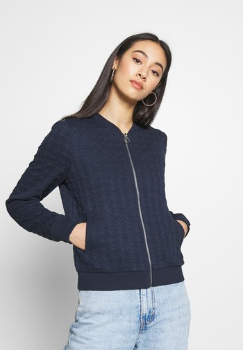 ONLMYNTHE JOYCE - Zip-up sweatshirt - navy blazer