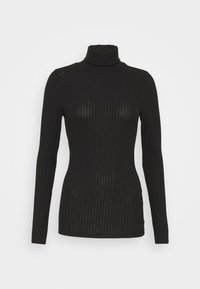 New Look Tall - WIDE ROLL NECK - Long sleeved top - black - 0