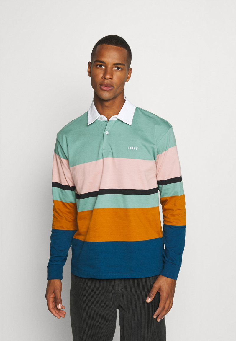 Obey Clothing - BENNY - Polo shirt - oil blue/multi-coloured