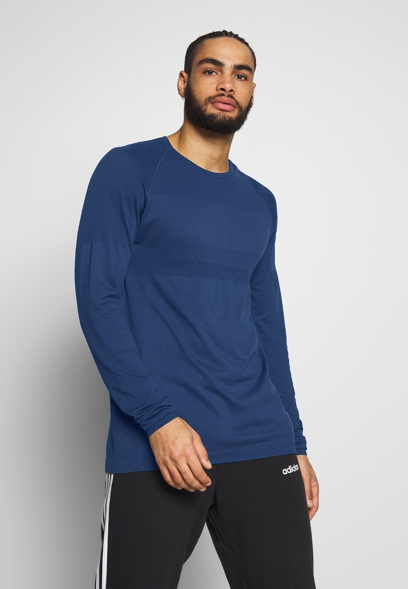 Jack & Jones - JCOZLS SEAMLESS TEE - Langarmshirt - sky captain