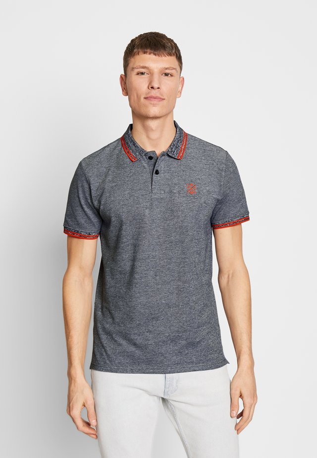 TWO-TONE TIPPING POLO - Polo - navy two tone pique