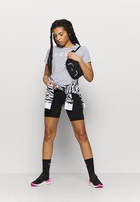 DKNY - TRACK LOGO - Print T-shirt - pearl heather grey - 1