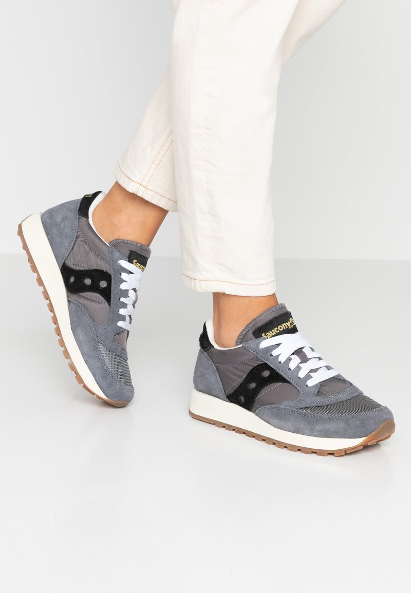 Saucony - JAZZ VINTAGE - Trainers - grey/black