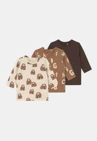 Name it - NBNMULLI 3 PACK UNISEX - Long sleeved top - toasted coconut - 0