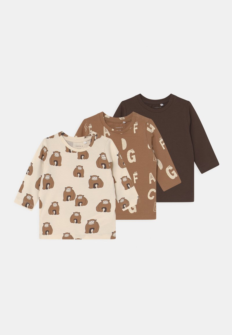 Name it - NBNMULLI 3 PACK UNISEX - Long sleeved top - toasted coconut