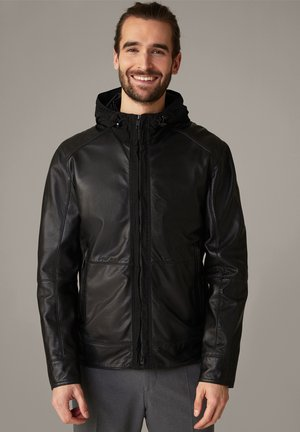 FAIDO - Leather jacket - schwarz