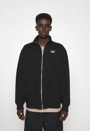 032C X ZALANDO ZIP-UP MOCK NECK UNISEX - Sweater met rits - black