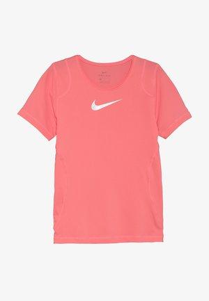 Basic T-shirt - pink gaze/white