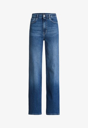 REGULAR-JEANS MIT HOHEM BUND - Flared Jeans - blau