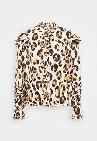 Fabienne Chapot - LEO FRILL BLOUSE - Long sleeved top - beige/black/brown - 5