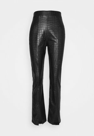 STRUCTURED PANTS - Trousers - black