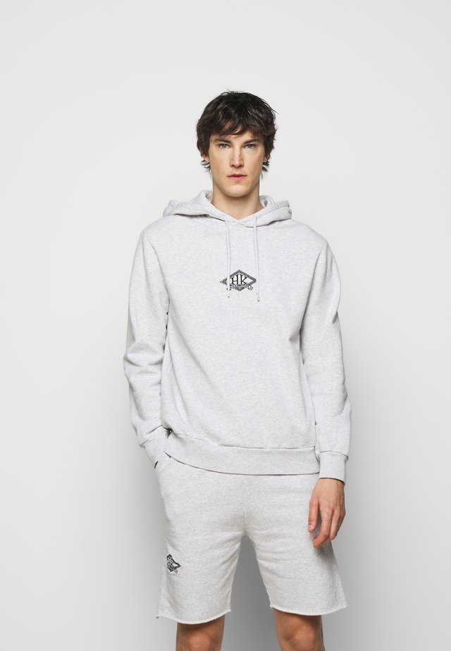 CASUAL HOODIE - Sweater - grey melange/black