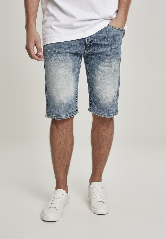 SOUTHPOLE HERREN BASIC DENIM SHORTS - Jeans Shorts - md.sand blue