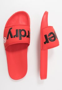 Superdry - CLASSIC POOL SLIDE - Mules - red - 1