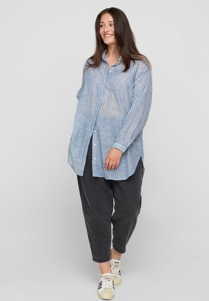 Button-down blouse - light blue