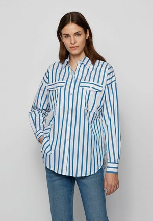 BERUNO - Button-down blouse - open blue