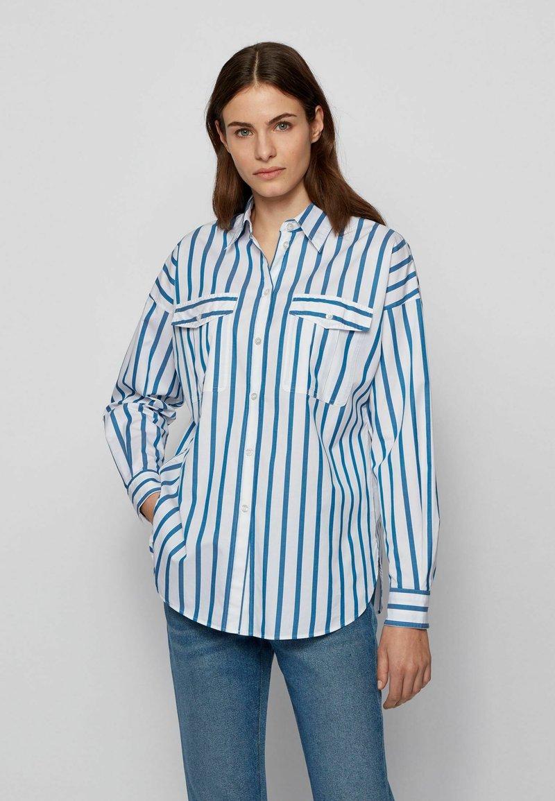 BOSS - BERUNO - Overhemdblouse - open blue