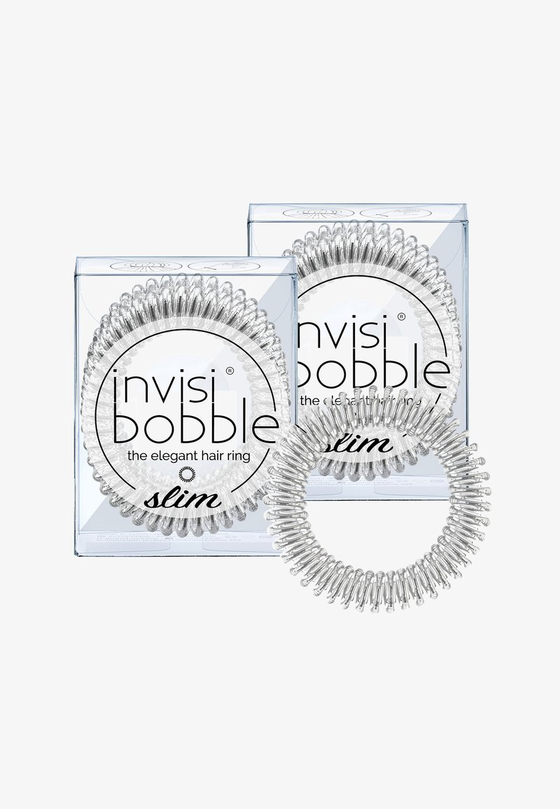 Invisibobble - SLIM HAARGUMMI 2 PACK - Hårstyling-accessories - chrome sweet chrome