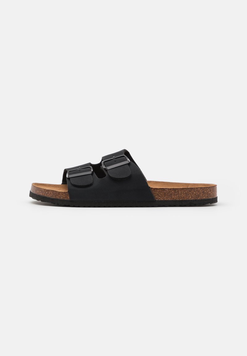 Rubi Shoes by Cotton On - REX DOUBLE BUCKLE SLIDE - Slippers - black