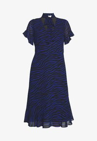 MICHAEL Michael Kors - MIX TIE DRESS - Day dress - black/twilight blue - 4