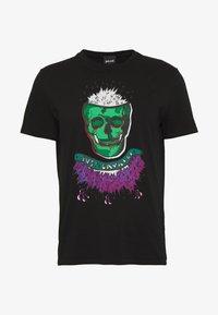 COLOUR SKULL - Print T-shirt - black