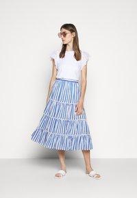 J.CREW - VOILE MIDI - A-line skirt - blue/multi - 1