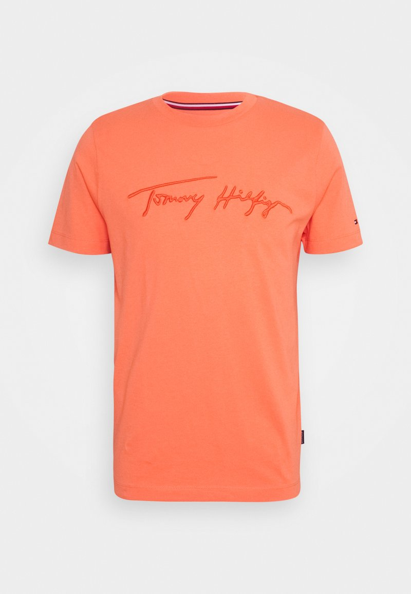 Tommy Hilfiger - SIGNATURE GRAPHIC TEE - Print T-shirt - summer sunset