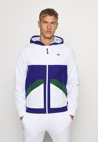 Lacoste Sport - TENNIS JACKET - Trainingsjacke - white/cosmic-green - 0