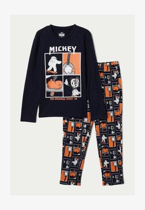 """AUS BAUMWOLLE MICKEY MAUS """"THE ORIGINAL"""" - Pyjama set - blau - 8859 - dark blue mickey mouse print"""