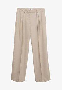 Mango - PLEATED - Trousers - beige - 4
