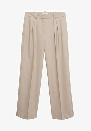 PLEATED - Trousers - beige