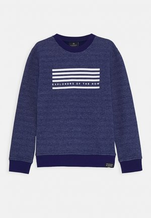 CREW NECK WITH SEASONAL ARTWORKS - Sweatshirt - yinmin blue