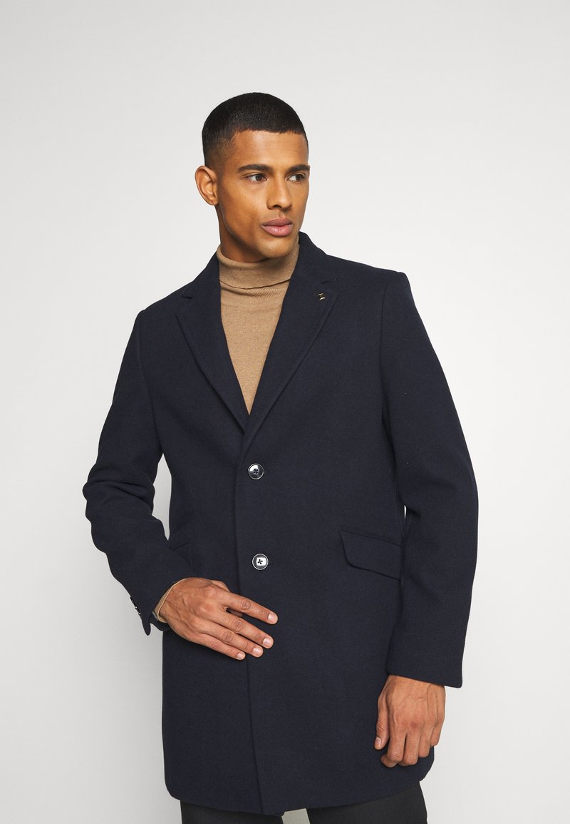 Burton Menswear London - FAUX BUTTON - Short coat - navy