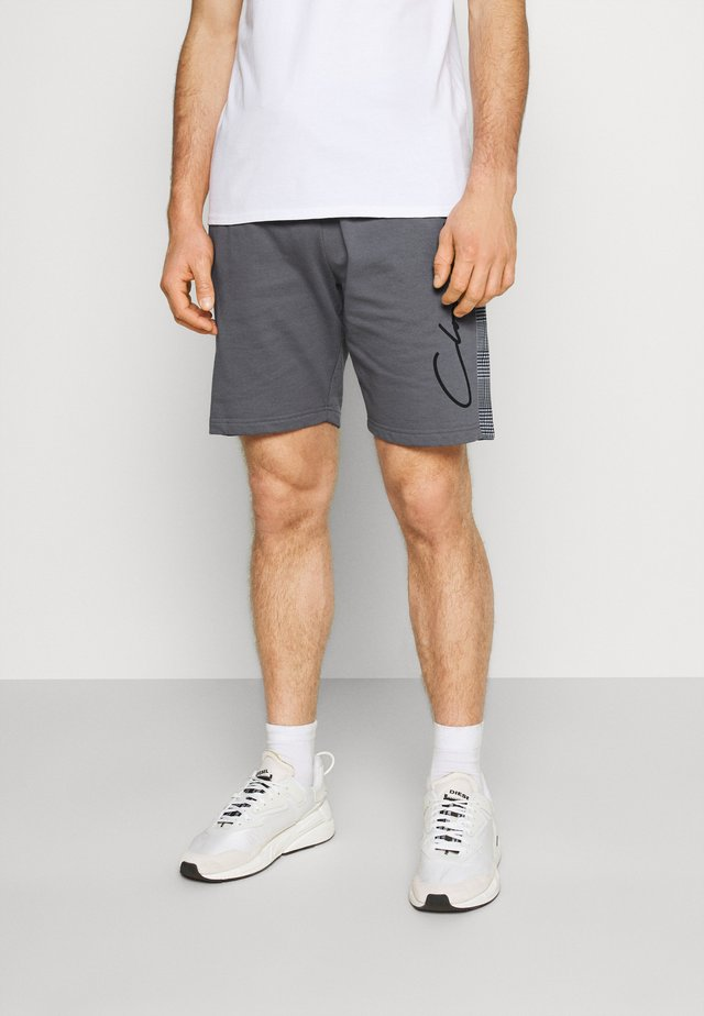 CHECKED SIDE PANELLED  - Pantaloni sportivi - grey