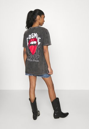 COSMIC LOVE LOOSEFIT TEE - Print T-shirt - grey