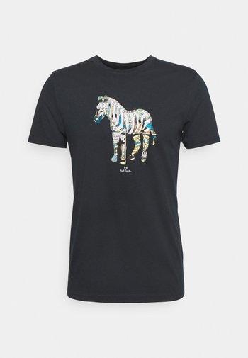 SLIM FIT ZEBRA UNISEX - Print T-shirt - dark blue