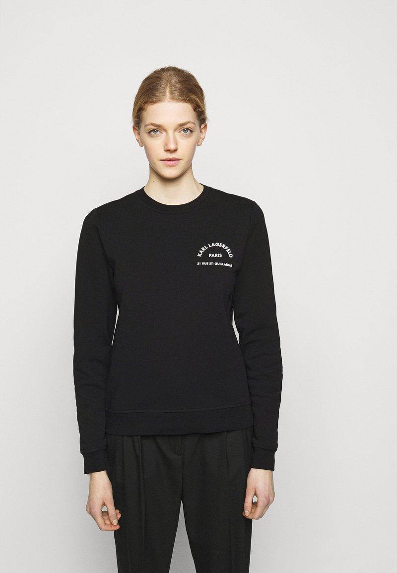 KARL LAGERFELD - ADDRESS LOGO - Sweatshirt - black