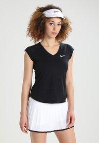 Nike Performance - PURE - Jednoduché triko - black/white - 0