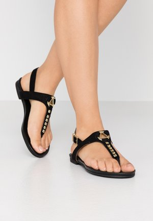 JENNA - T-bar sandals - black