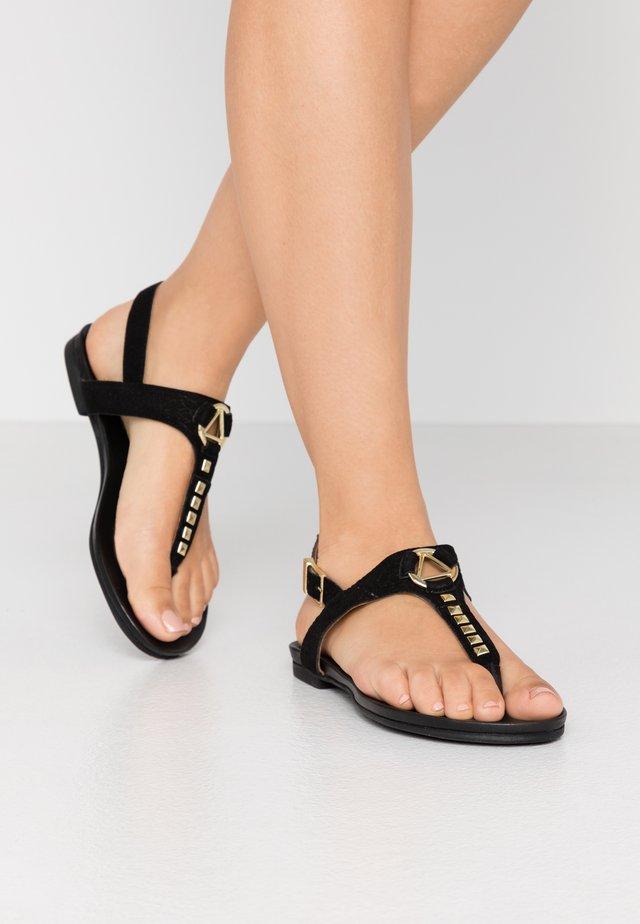 JENNA - Sandalias de dedo - black