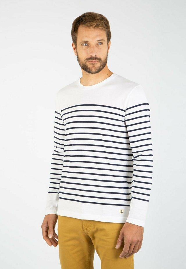 PORT-LOUIS - MARINIÈRE - T-SHIRT - T-shirt à manches longues - blanc/navire
