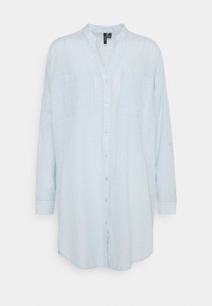 VMISABELL FOLD UP TUNIC - Blouse - blue fog/snow white